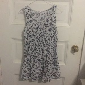 Black and white floral dress from Cotton On